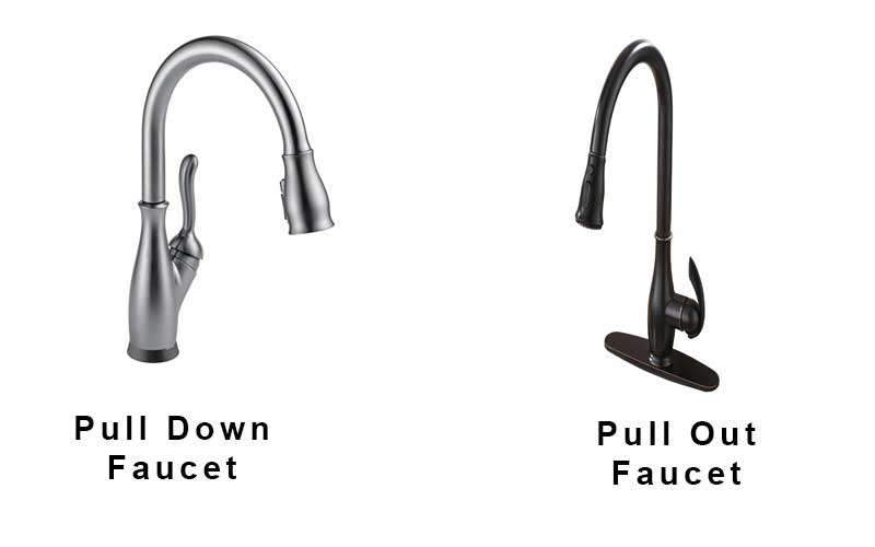 pull down vs pull out kitchen faucet