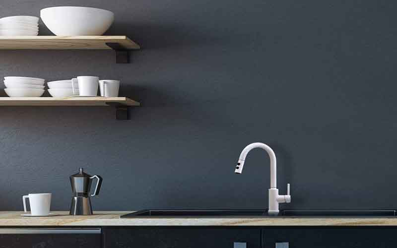 Peppermint White Kitchen Sink Faucet