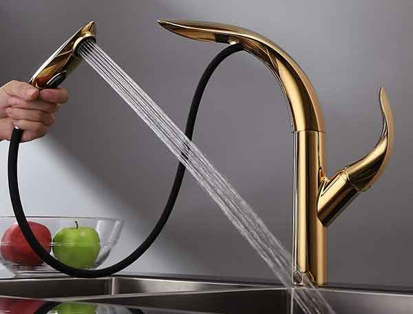 Zime Luxurious Gold 2 – A Noticable Kitchen Faucet