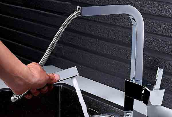 Contemporary Single Handle Square – Top Quality Unique Kitchen Faucet