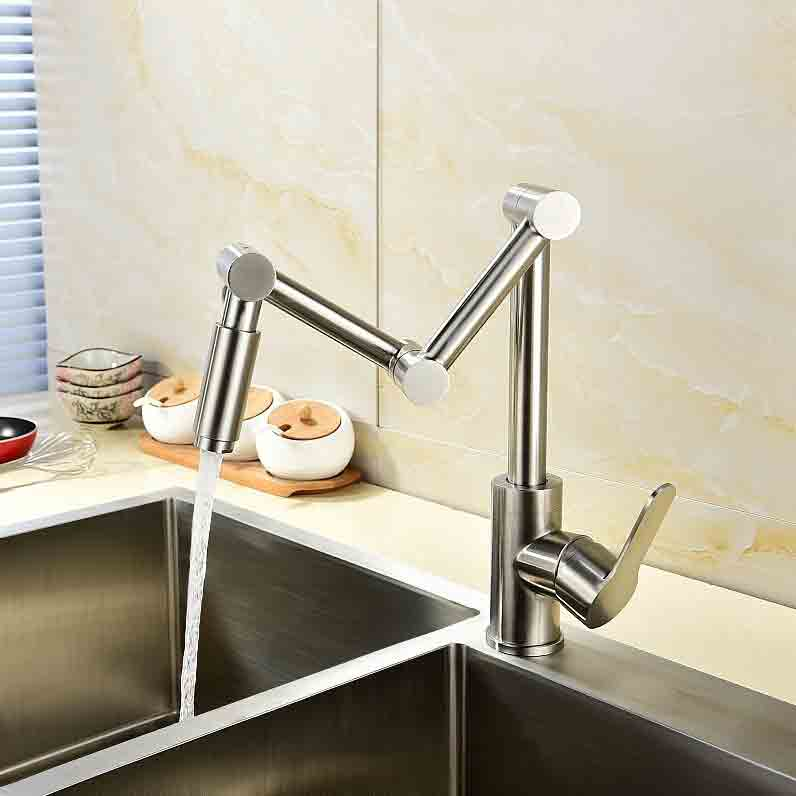 Modern Stainless Steel – Articulating Kitchen Faucet
