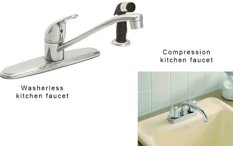 Washerless vs Compression faucet