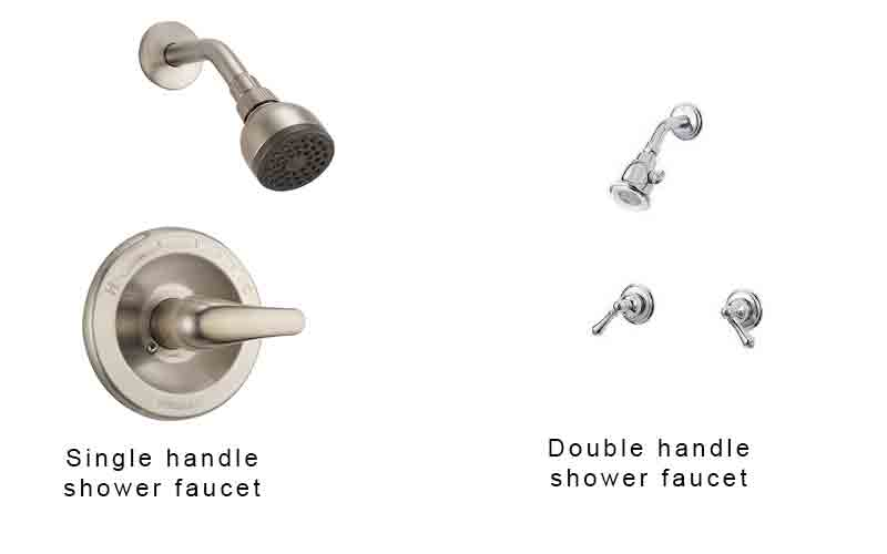 double vs single handle shower faucet